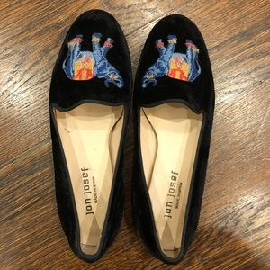 Jon Josef 6.5 Elephant smoking loafers